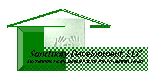 housing development logo. Sanctuary Development, LLC is
